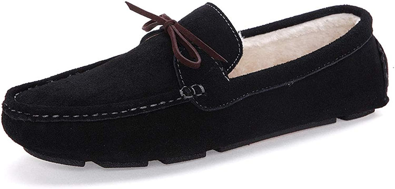 Men's Suede Leather shoes Wear-Resistant Casual shoes Moccasins Driving shoes