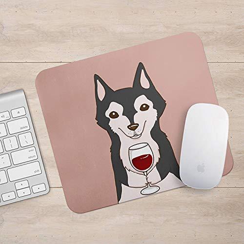 Siberische Husky Drink Koffie/Wijn Mousepad, Hond Muis Pad, Hond Liefhebber Gift Mousepads, Aztec Geometrische Grappige Laptop Accessoires, Size: 7.9x9.9 inches/20x25cm, Veelkleurig