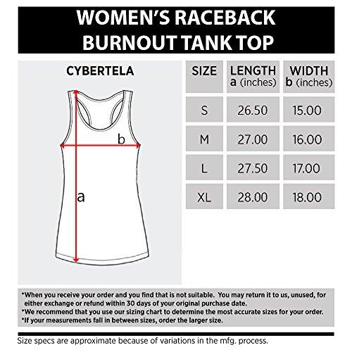 Cybertela Women's Bitches Be Lifting Burnout Racerback Tank Top (Black, Large)