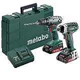 Metabo Combo Set 2.1.7 18 V * BS Li + SSD (2x 2,0 Ah) - combo de baterías y cargador