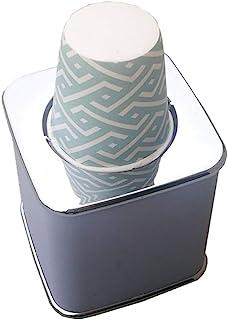 TOPBATHY カップディスペンサー 使い捨てカップ棚 紙コップ オフィス ホルダー カップスタンド 取扱簡単 20 pcsカップ(ランダムパターンカップ)