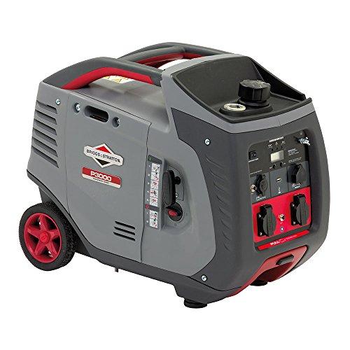 Briggs & Stratton PowerSmart Generatore Portatile P3000 a Benzina dell'Invertitore Potenza di Funzionamento di Avviamento 2600 3000 Watts, 3000 W, 240 V, Grigio