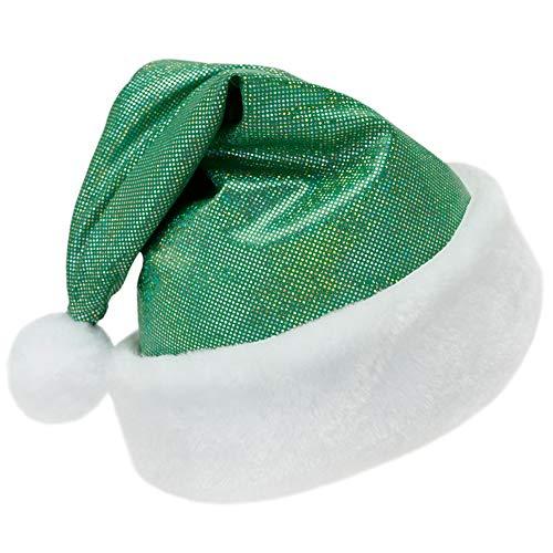 SeasonsTrading Sparkly Green Santa Hat -Fun Kids Child Toddler Christmas Costume