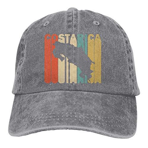 Estilo retro Costa Rica Silueta Hombres y mujeres Ajustable Vintage Jeans Gorra de béisbol Hip Hop Sombreros