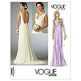 Vogue 2965- Patrón de Costura para Confeccionar Vestido de Novia (Tallas 42, 44 y 46, en inglés y alemán)