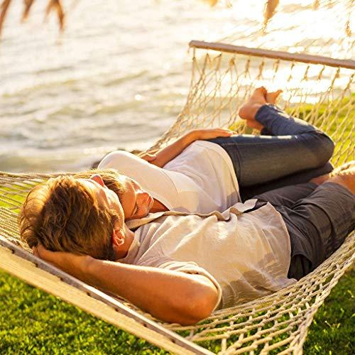 Big Shot - Silla colgante portátil de malla de algodón, hamacas al aire libre, patio de playa, cama de dormir