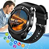 Pradory Smart Watch,Android Smartwatch Touch Screen Bluetooth Smart Watch for Android Phones Wrist Phone Watch with SIM Card Slot & Camera,Waterproof Sports Fitness Watch Tracker for Men Women Kids