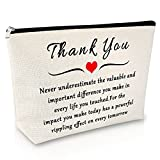 Occupational Appreciation Makeup Bag Thank you Gift for Doctor Nurse Cosmetic Bag Teacher Appreciation Gift Social worker gifts for Women Travel Cosmetic Pouch Birthday Christmas Gift