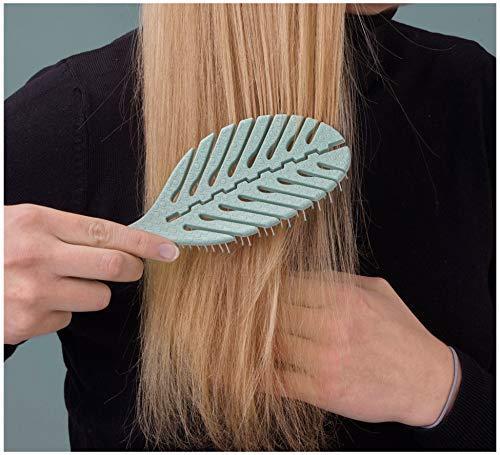CUSSINI® Damen Haarbürste ohne Ziepen - Vegan & Nachhaltig - Bürste Haare Entwirrbürste