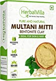Herbalvilla 100% Natural Multani Mitti powder for Face Pack | Fuller
