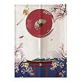 Raguso 85 * 120 cm Vantage Estilo japonés Pintura Tradicional Media Cortina Cortina Opaca para el hogar Habitación de los niños Dormitorio Cocina Tienda Restaurante Decoración de la Puerta