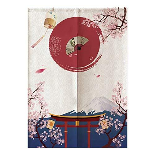Wifehelper Separador de Puerta de Estilo japonés, Cortinas de Medio sombreado para niños habitación Dormitorio Cocina Tienda Restaurante 85 * 120 cm
