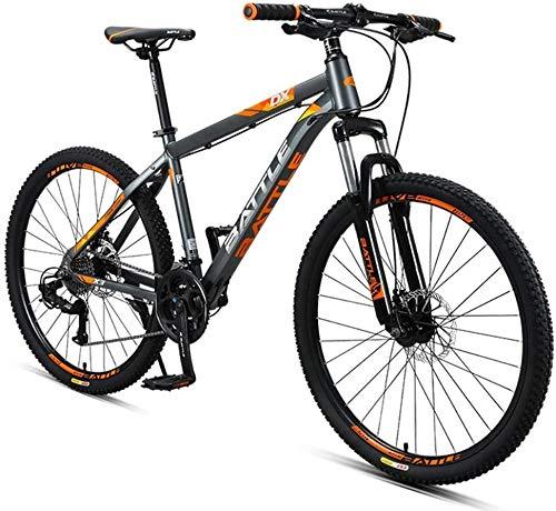 Syxfckc 26 Pulgadas Bicicleta de montaña, Bicicleta de montaña Mujeres de los Hombres de 27 velocidades, con Doble Disco patín Todo Terreno Bicicleta de montaña