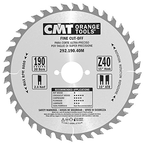 CMT Orange Tools 292,190,40 m scie circulaire 190 x 30 x 2,6 z atb 15 40 degrés
