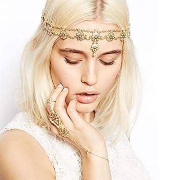 Irresistible Pearl Head Chain Boho Bride Head Piece Bridal Headpiece Pearl Tiara Goddess Head Chain Beach Wedding