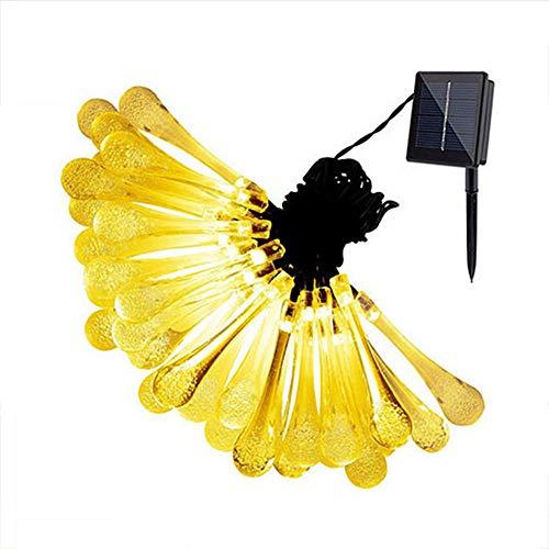 50 lampjes LED-lichtslingers op zonne-energie voor vakantiedecoratie, waterdichte buitenverlichting voor tuin lichtslingers voor tuinen-8 cm waterdruppels_7m50 lichten