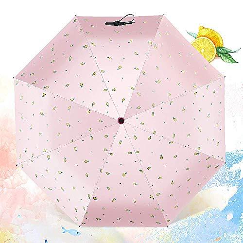 Winddicht Compact 8 Rippen Reise Regen Sonnenschirm Manuelles Öffnen für Frauen Männer Folding Golf Teflon Beschichtung,Blue