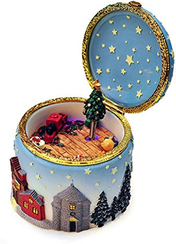 EWFVVBV Harz leuchtende spieluhr Frohe Weihnachten Musik Klassische spieluhr Geburtstagsgeschenke für Kinder partydekorationen