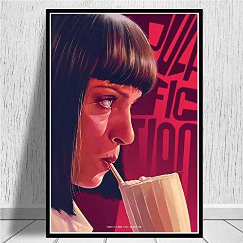 Arte del cartel 40x60cm Sin marco Pulp Fiction Quentin Tarantino Picture Living Decoración del hogar