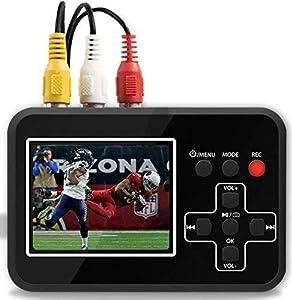 DIGITNOW! Convertidor de captura de vídeo , VHS a DVD Digital Grabber Grabador, RCA a HDMI Capturadora Digitalizadora, Jugador y Guardar en tarjeta SD