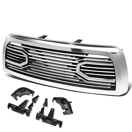 Big Horn Style Front Hood Bumper Grille Grill Compatible with Dodge Ram 2500 3500 10-18