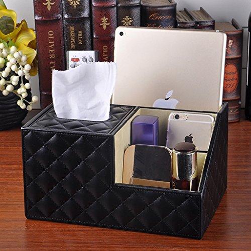 Tissue Box HOME Creatief leer pompen papier met laden houten doos multifunctionele afstandsbediening opbergdoos cosmetische doos pompbak