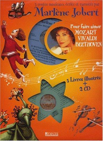 Trois contes musicaux pour aimer Mozart, Vivaldi, Beethoven, Coffret 3 livres et 2 CD audio