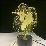 Regalo romántico lámpara de Mesa Que Cambia de Color luz de la Noche decoración de la habitación Vacaciones Novia niños Juguete Nave Espacial