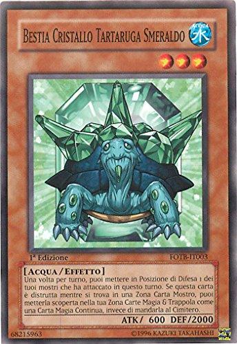 YU-GI-OH! - FOTB-IT003 - Bestia Cristal Tortuga Esmeralda - Fuerza del Destructor - Ed. Especial - 1st Edition - Frecuentes