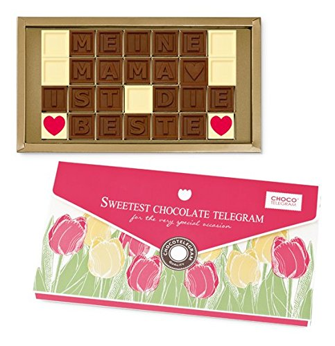 MEINE MAMA IST DIE BESTE - ChocoTelegram - Geschenkidee | Geburtstagsgeschenk | Schokolade | Mutter | Geschenk für Mama | Mutti | Muttertag | Muttertagsgeschenk | Geburtstag