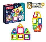 Magformers Neon (26 Piece) + Bonus Light Magnetic Building Blocks, Educational Magnetic Tiles Kit , Magnetic Construction STEM Toy Set