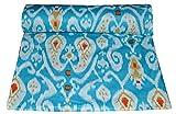 Majisacraft Stoff, ca. 112 cm breit, blauer Grund, rot,