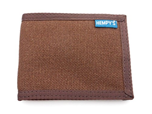 Hempy's Hemp Bi-fold Slim Line Wallet - Brown - One Size
