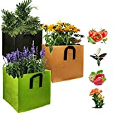 GOICC Bolsas de Cultivo Transpirables para jardín, macetas de Tela de aireación no Tejida con Asas para Maceta de jardín Interior para Plantas, Flores, Verduras,3pcs,25 gallons