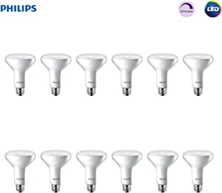 Philips LED 474312 BR30 Dimmable 650-Lumen, 2700-Kelvin, 11 (65-Watt Equivalent) Flood Light Bulb with E26 Medium Base, Soft White, 12-Pack, 12 Pack, 2700K, 12 Count
