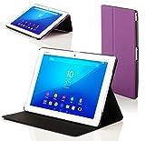Forefront Cases Funda para Sony Xperia Z4 Tablet 10.1 SGP771 Funda Carcasa Stand Case Cover - Delgado Ligera, Protección Completa del Dispositivo y Smart Auto Sueño Estela Función - Púrpura