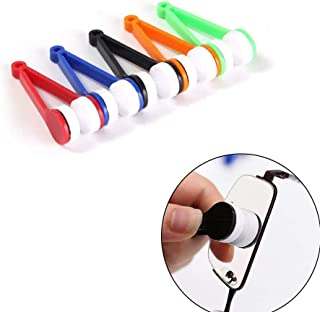 VinBee 20 Pcs Eyeglass Cleaner, Mini Sun Glasses Eyeglass Microfiber Spectacles Cleaner Brush Cleaning Tool, Eyeglasses Cleaner Cleaning Clip (Random Color)