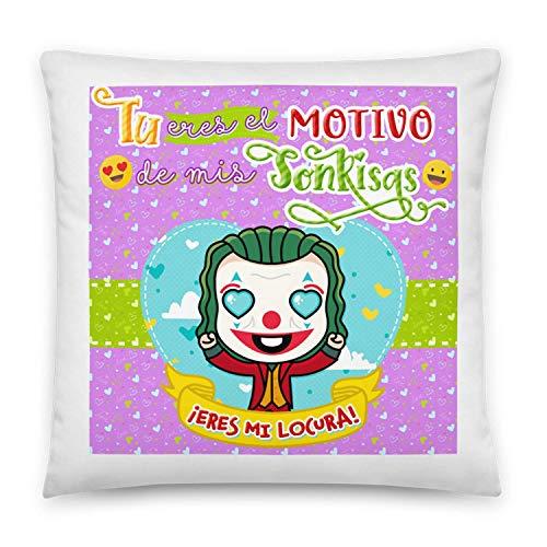 Kembilove Cojines para Parejas – Cojín para el sofá con Unos Mensajes y Colores únicos – Cojines para Parejas de Joker – Ultra-Suave y cómodo – Regalo Ideal para San Valentín
