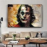 KWzEQ Imprimir en Lienzo Payaso Sala de Estar HD impresión Lienzo Pintura al óleo decoración del hogar60x75cmPintura sin Marco