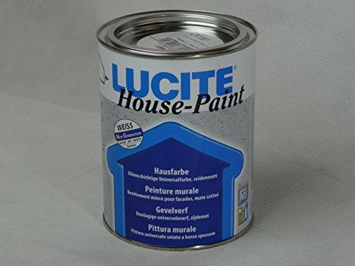LUCITE House-Paint 1L Universal Fassadenfarbe, weiss, seidenmatt