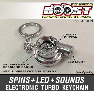Electronic Spinning Turbo Turbina Llavero con sonido + LED de ...