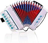 DODY Juguete de acordeón para niños de 17 Teclas, Instrumentos educativos de 17 Teclas y 8 Bajos, música fácil de Aprender, Calidad de Sonido Clara, Principiantes en la enseñanza