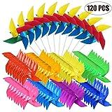 Woohome 120 Pz Girandole a Vento Arcobaleno Girandola di Plastica, 2 Stile Multicolore Gir...