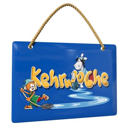 Äffle & Pferdle - Kehrwochenschild (blau)