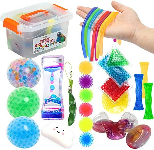 Fidget Toys Set 29Pack Sensory Relieves Stress Anxiety Squeeze Toy for Kids Teens and Adults product image