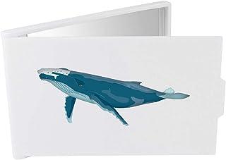 'Blue Whale' Compact / Travel / Pocket Makeup Mirror (CM00024324)
