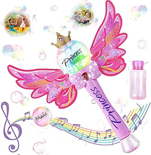 Máquina de Burbujas,Máquina de burbujas Gatling,8-Hole Enorme cantidad Bubble Maker,Pistola de Burbujas para Niños,Se Puede Utilizar Regalo para Niños,Fiestas Cumpleaños, Bodas al Aire Libre.