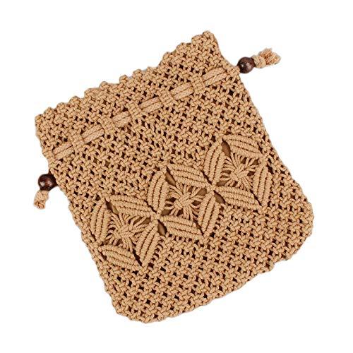 Demarkt Retro Art-Stroh - Bolso de Mano con Correa de Viaje, marrón (Marrón) - 162427DQEYAU7TM19XDZU2W