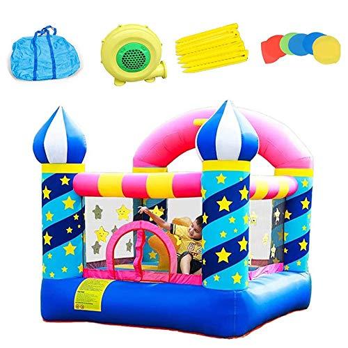 JW-YZWJ Kinder Hüpfburgen, Indoor Haushalt Kleine Trampoline Kinder Spielzeug mit Gebläse für Aktivität Play Center Outdoor Indoor, aufblasbare Aufprallen Bett