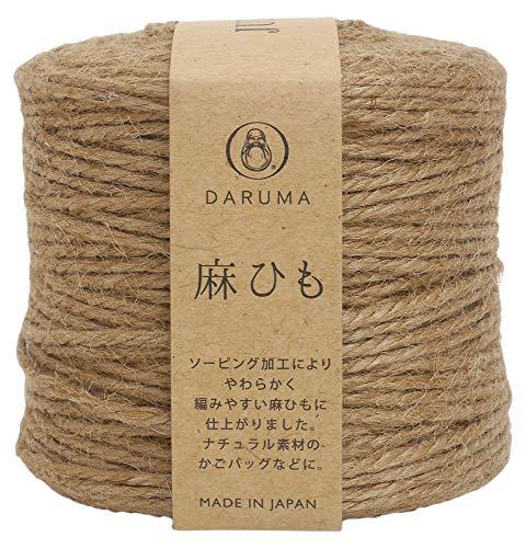 横田 DARUMA 麻ひも クラフト 極太 col.1 ベージュ 系 約100m 3玉セット 01-4040